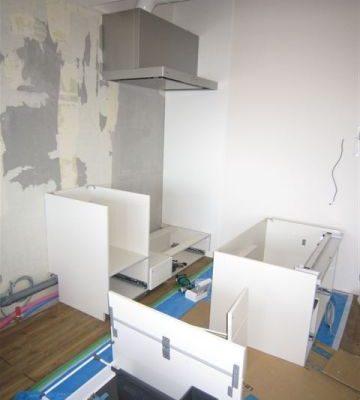 マンション リノベーション システムキッチン